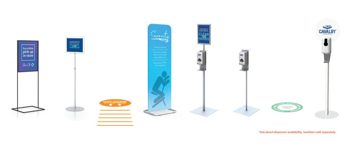 Info/Sanitizing stations