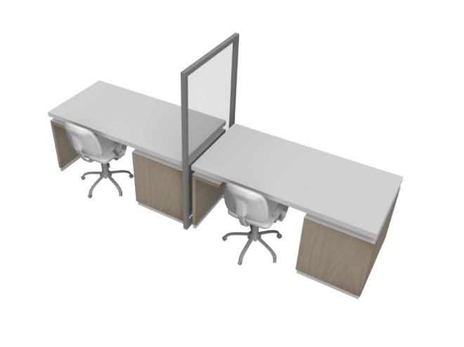 desk partition protective barrier