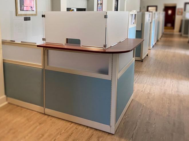 reception desk partition