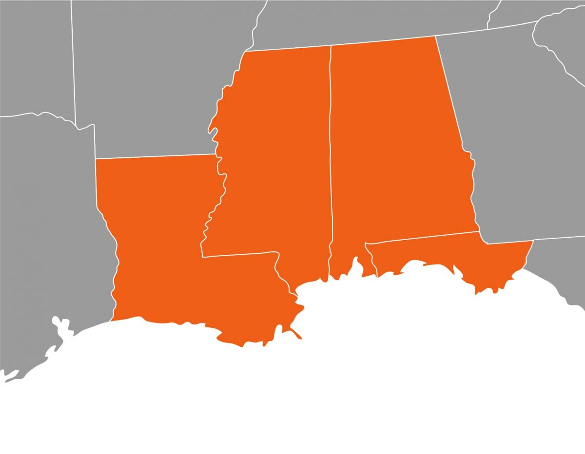 synergy environments-prep and recovery-gulfcoast service map